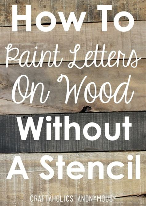 lettering tutorial paint diy rustic wood sign tutorial painted letters pallets