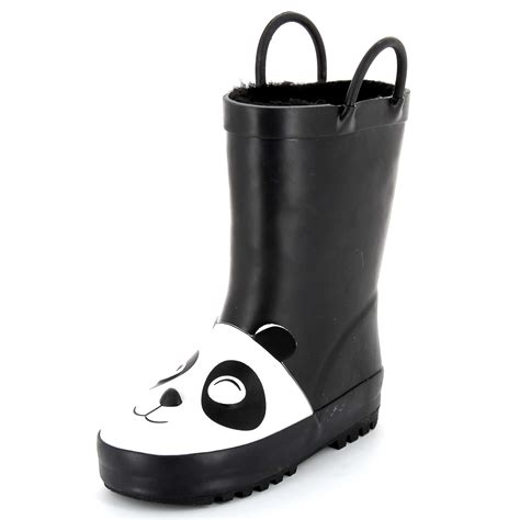 Black Panda Shoes 5 panda wellington boots boys 18 months to 5 years kiabi 14 00eur