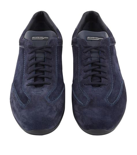santoni sneakers santoni amg lo pro suede sneaker in blue for lyst