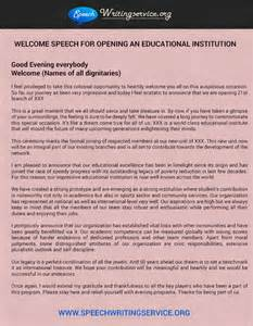 Exle Of A Speech Essay by Welcome Speech Sles Available Should Be Used Wisely Professional Writing Services