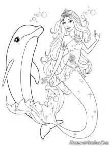 Barbie Mermaid Coloring Pages sketch template