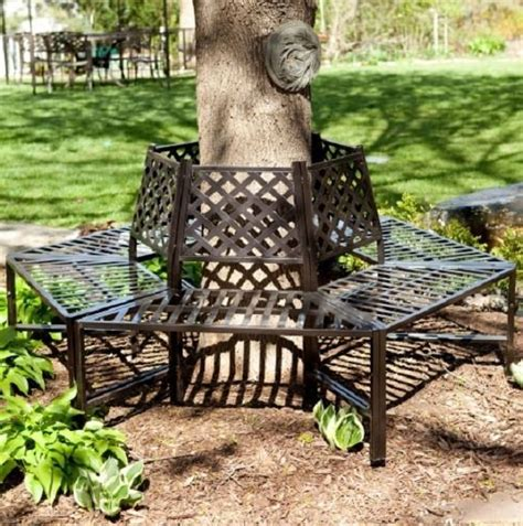 metal tree bench garden furniture park bench wrought iron antique french