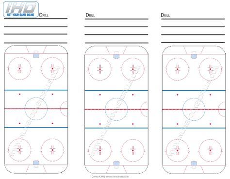 blank hockey practice plan template blank rink downloads inline hockey drills
