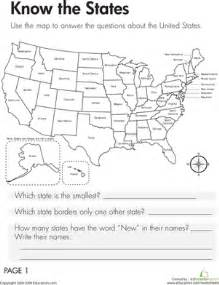 geography know the states worksheet education com