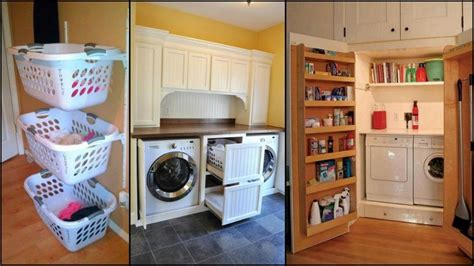 Tiny Bedroom Solutions super clever laundry room storage solutions