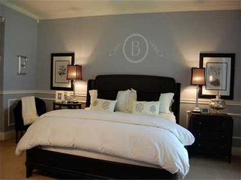 soothing paint colors of blue and grey for this master bedroom description from uk
