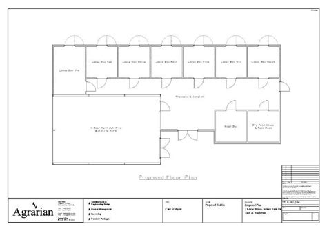 Residential Pole Barn Floor Plans by Stable Floor Plans Equine Barn Drawing Equestrian