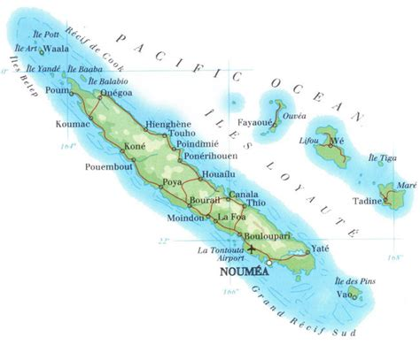 map of new caledonia and australia detailed physical map of new caledonia with roads new