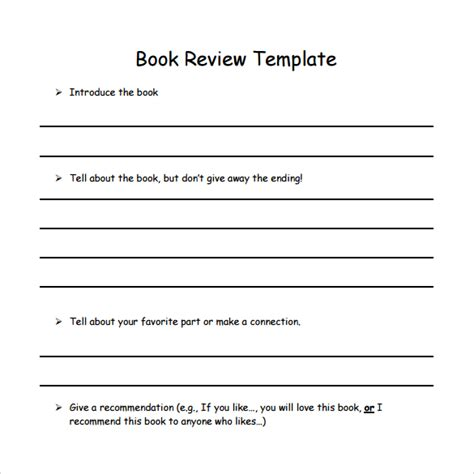 review template sle book review template 10 free documents in pdf word
