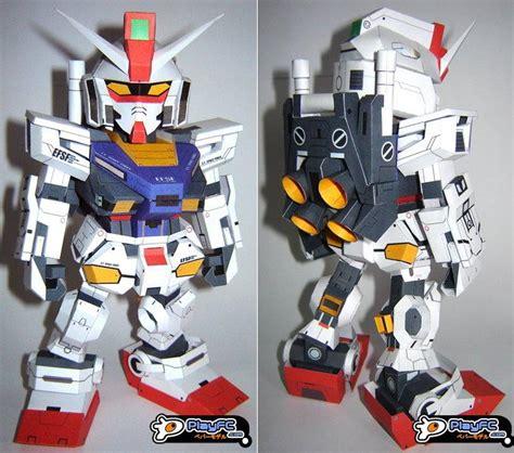 Sd Gundam Papercraft - sd rx 78 2 evolve gundam paper craft gadgetsin