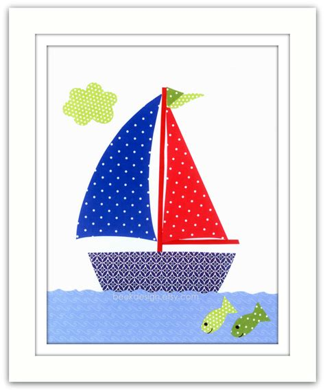 boat child drawing child boat drawings art baby nursery decor art for