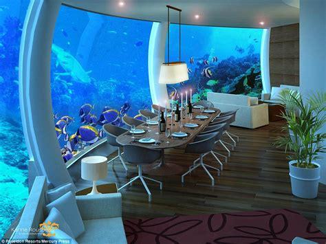 underwater hotel room five luxury underwater hotel poseidon underwater resort in fiji delays opening for six