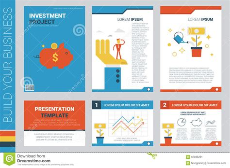 Investment Project Book Cover And Presentation Template Stock Vector Illustration Of Template For Project Presentation