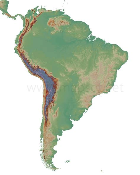 south america physical features map blank blank physical map america