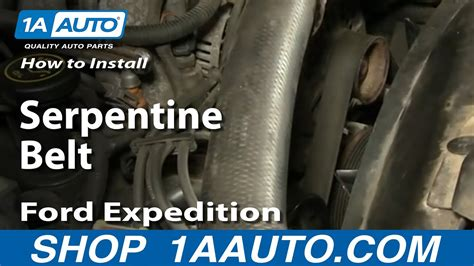 replace serpentine belt   ford expedition youtube