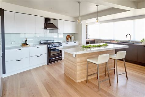 ash blonde wood floor kitchen contemporary with herb