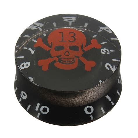 Electric Guitar Knobs by Speed Knobs With Skull Crossbones For Electric
