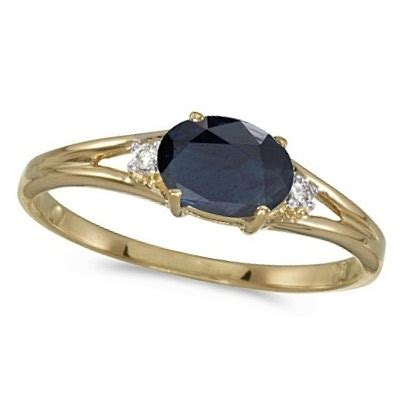 Yellow Saphire Golden 9 55ct oval blue sapphire right ring 14k yellow