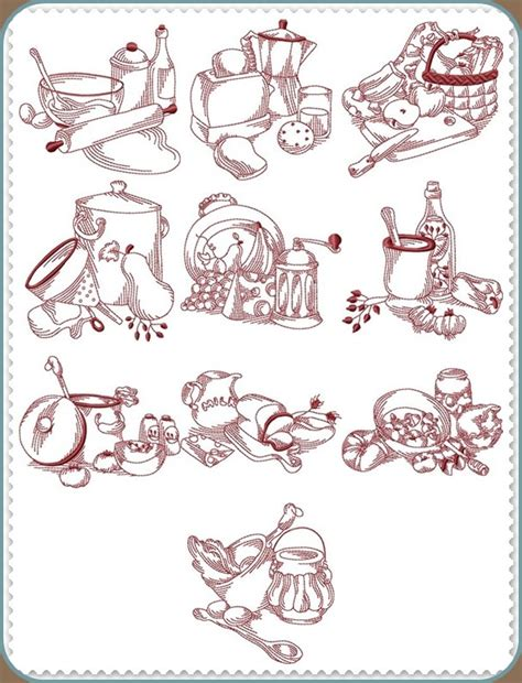 Free Kitchen Embroidery Designs | machine embroidery redwork designs free embroidery patterns