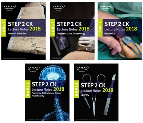 usmle step 1 lecture notes 2018 7 book set kaplan test prep books usmle step 2 ck lecture notes 2018 5 book set book by