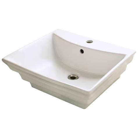 polaris sinks porcelain vessel sink in white p041v w the