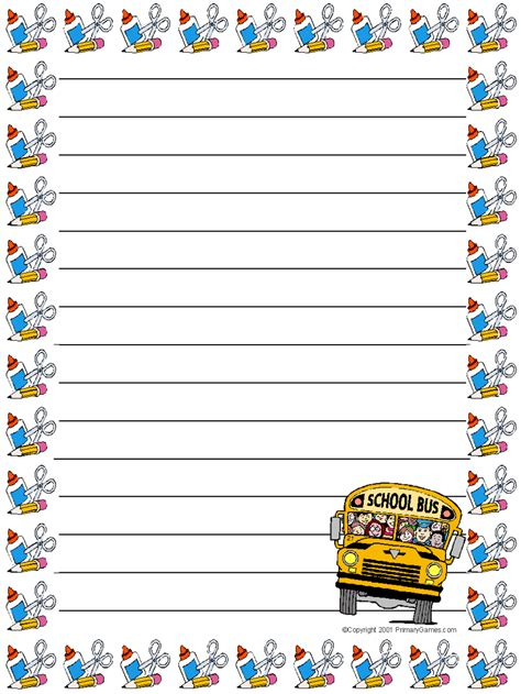 printable stationery books search results for snowflake primary writing paper