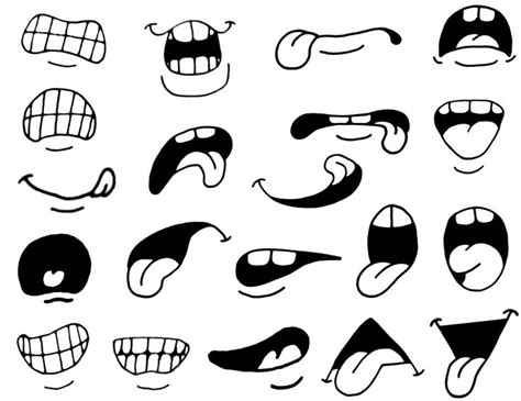 printable eyes and mouth cartoon eyes and mouth clipart