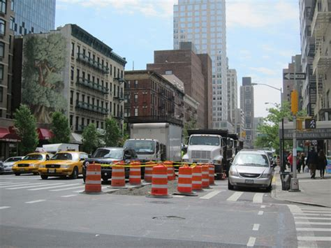 nacto streetsblog new york city eyes on the street dot lays foundations for safer first