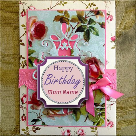 Create Birthday Card With Name And Photo Create Name On Happy Birthday Greeting Card For Mother
