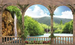 landscape wall murals wallpaper arches landscape lake photo wallpaper wall mural room