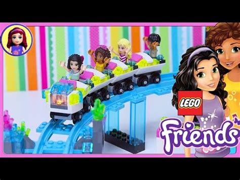 N Friends Roller Coaster lego friends amusement park roller coaster build part 1