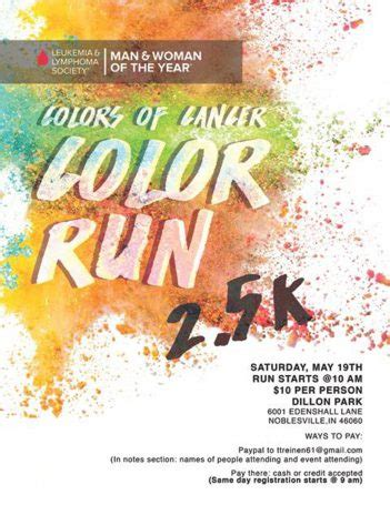 color run indianapolis indy leukemia and lymphoma society to hold color run at