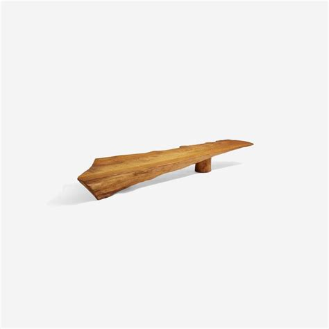 danish nine foot axe hewn freeform low table bench in