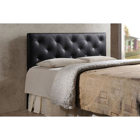 black leather headboard king baxton studio baltimore modern and contemporary king black