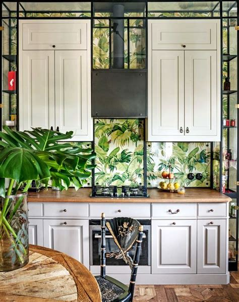 kitchen backsplash wallpaper ideas 25 wallpaper kitchen backsplashes with pros and cons