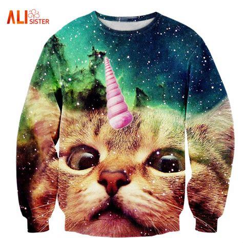 Hoodie Cat Abu 3 Wisata Fashion Shop aliexpress buy alisister 2017 new fashion s unicorn cat hoodie winter autumn 3d