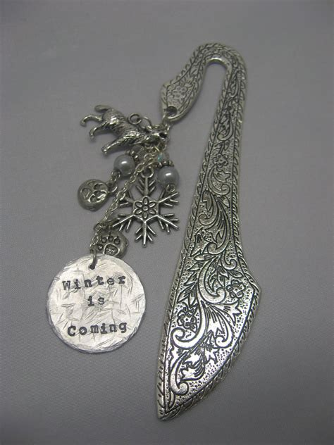 wolf beaded bookmark game of thrones winter is coming wolf snowflake bookmark ebay