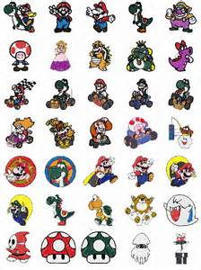 mario machine embroidery designs patterns for brother