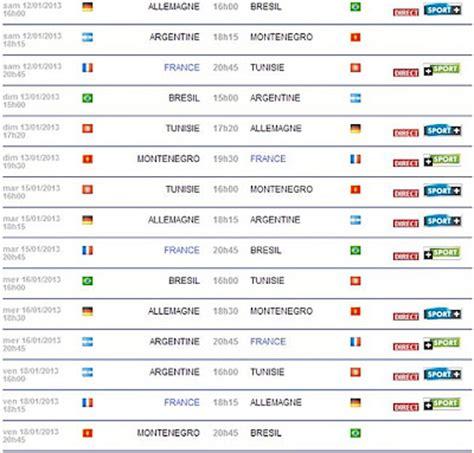 Coupe Du Monde Handball 2013 Calendrier Monde 2013 En Direct Programme Diffusion Tv