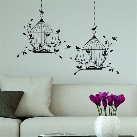 birdcage wall stickers bird cage wall stickers decals