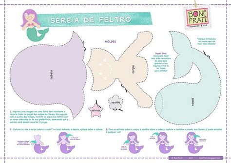 felt templates for felt mermaid template felt animals and