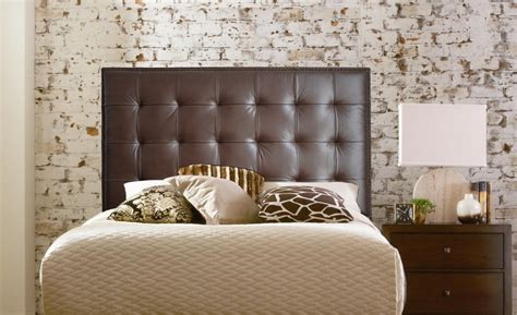 Headboard On Wall by Bedroom Black Wall Mounted Headboard With Two Nightstands