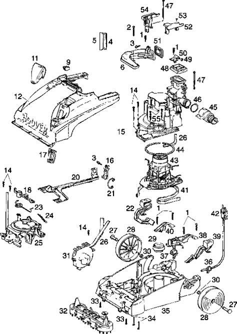 hoover steamvac parts diagram hoover f5881 steam vac vacuum cleaner parts