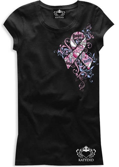 design a shirt for breast cancer katydid collection designs t shirt to support breast