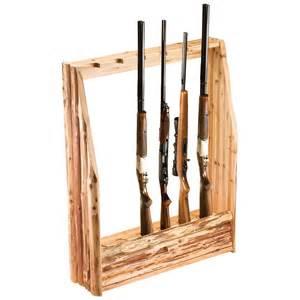 creek log 6 gun rack with storage 143364 gun