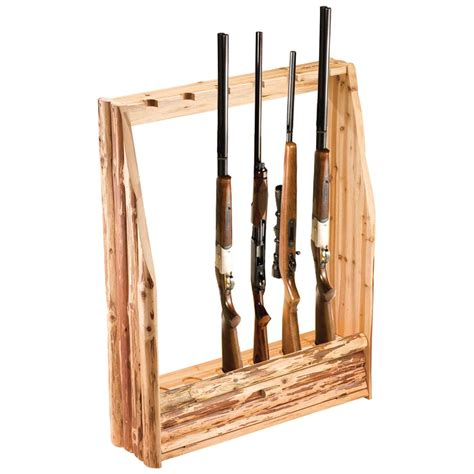 Custom Home Plans Online by Rush Creek Log 6 Gun Rack With Storage 143364 Gun