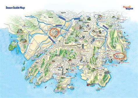 seoul map tourist attractions busan tourist map busan south korea mappery