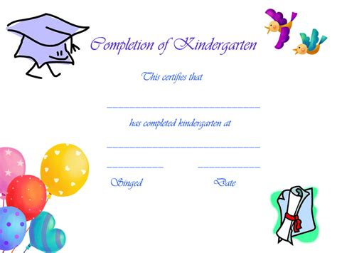 preschool graduation certificates templates 6 best images of free printable kindergarten graduation