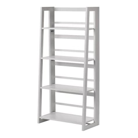 white folding bookcase dolce 4 shelf folding bookcase white linon target
