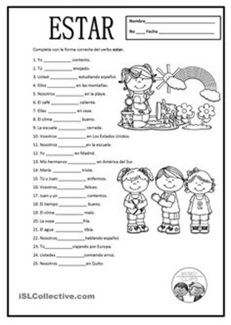 Ser And Estar Worksheet Answers by El Verbo Ser Worksheet Related Keywords El Verbo Ser